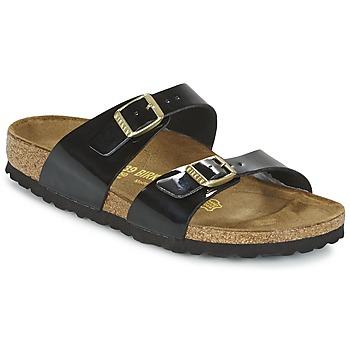 鞋子 女士 休閑涼拖/沙灘鞋 Birkenstock 勃肯 SYDNEY 黑色 / 漆皮