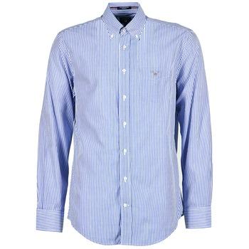 衣服 男士 长袖衬衫 Gant THE POPLIN BANKER STRIPE 蓝色