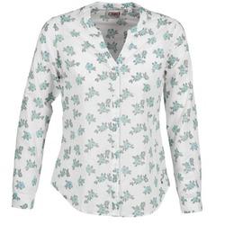 衣服 女士 衬衣/长袖衬衫 Mustang FLOWER BLOUSE 白色 / 蓝色