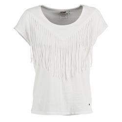 衣服 女士 短袖体恤 Mustang FRINGE 白色