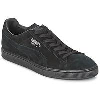 鞋子 球鞋基本款 Puma 彪马 SUEDE CLASSIC 黑色 / 灰色