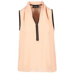 衣服 女士 女士上衣/罩衫 Only FIA ZIP 橙色 / 粉蓝色 / 黑色