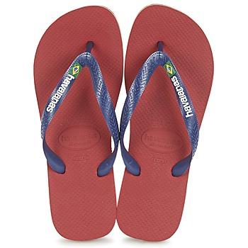 鞋子 人字拖 Havaianas 哈瓦那 BRASIL LOGO 海蓝色 / 红色