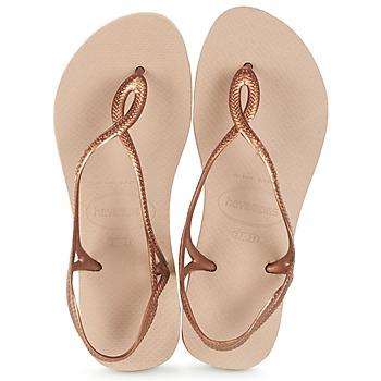 鞋子 女士 人字拖 Havaianas 哈瓦那 LUNA 古銅色