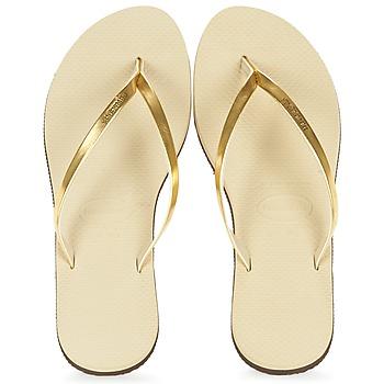 鞋子 女士 人字拖 Havaianas 哈瓦那 YOU METALLIC 金色