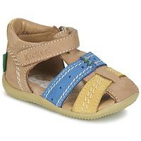 鞋子 男孩 凉鞋 Kickers BIGBAZAR 米色 / 蓝色 / 黄色