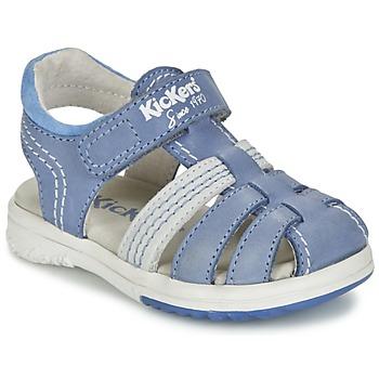 鞋子 男孩 凉鞋 Kickers PLATINIUM 蓝色