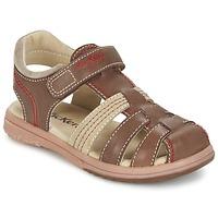 鞋子 男孩 凉鞋 Kickers PLATINIUM 棕色