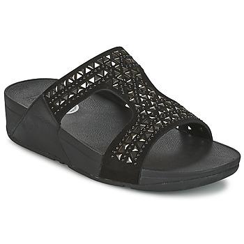 鞋子 女士 休闲凉拖/沙滩鞋 FitFlop CARMEL SLIDE 黑色