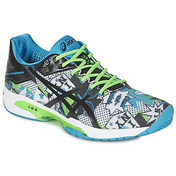 鞋子 男士 网球 Asics 亚瑟士 GEL-SOLUTION SPEED 3 L.E. NYC 白色 / 黑色 / 蓝色
