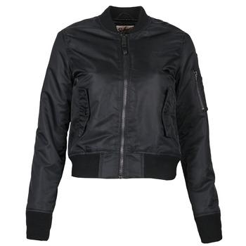衣服 女士 夹克 Schott BOMBER BY SCHOTT 黑色