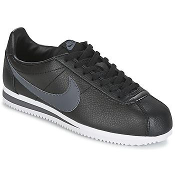 鞋子 男士 球鞋基本款 Nike 耐克 CLASSIC CORTEZ LEATHER 黑色 / 灰色
