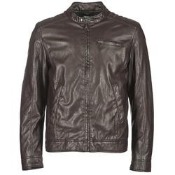 衣服 男士 皮夹克/ 人造皮革夹克 Benetton HOULO 棕色