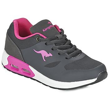 鞋子 女孩 球鞋基本款 Kangaroos KANGA X 灰色 / 玫瑰色