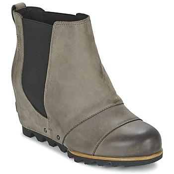 鞋子 女士 短靴 Sorel LEA WEDGE 灰色 / Fonce