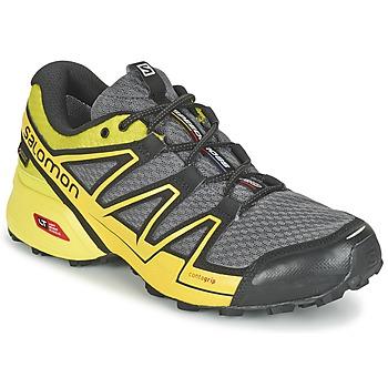 鞋子 男士 跑鞋 Salomon 萨洛蒙 SPEEDCROSS VARIO GTX® 灰色 / 绿色 / 黄色