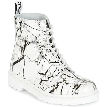 鞋子 女士 短筒靴 Dr Martens PASCAL MRBL 白色 / 大理石色