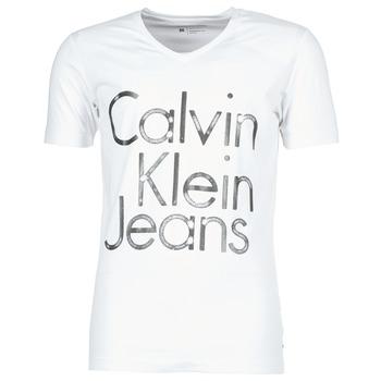 衣服 男士 短袖体恤 Calvin Klein Jeans TEMPEST VN SLIM FIT 白色