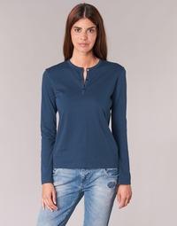 衣服 女士 长袖T恤 B.O.T.D EBISCOL 海蓝色