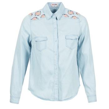衣服 女士 衬衣/长袖衬衫 Yurban EGUATOULE 蓝色 / 米色