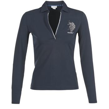 衣服 女士 长袖保罗衫 U.S Polo Assn. 美国马球协会 CRISTINE 海蓝色