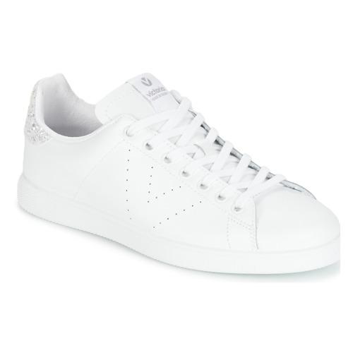 鞋子 女士 球鞋基本款 Victoria 维多利亚 DEPORTIVO BASKET PIEL 白色 / 银灰色