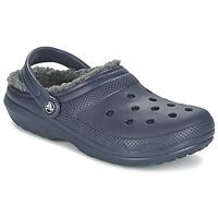 鞋子 洞洞鞋/圆头拖鞋 crocs 卡骆驰 CLASSIC LINED CLOG 海蓝色 / 灰色