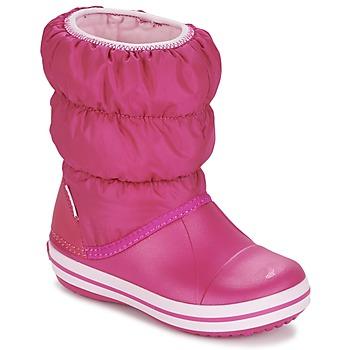 鞋子 女孩 雪地靴 crocs 卡骆驰 WINTER PUFF BOOT KIDS 玫瑰色