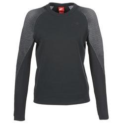 衣服 女士 卫衣 Nike 耐克 TECH FLEECE CREW 黑色