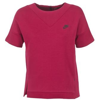 衣服 女士 卫衣 Nike 耐克 TECH FLEECE CREW 波尔多红