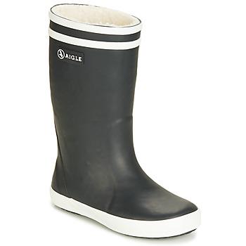鞋子 儿童 雨靴 Aigle LOLLY POP FUR 黑色