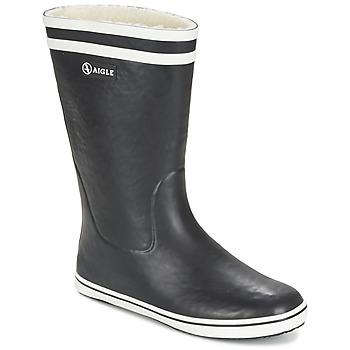 鞋子 女士 雨靴 Aigle MALOUINE FUR 黑色
