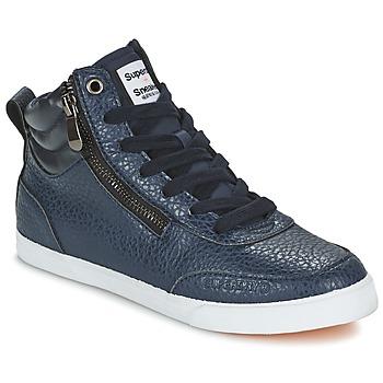 鞋子 女士 高帮鞋 Superdry 极度干燥 NANO ZIP HI TOP SNEAKER 蓝色
