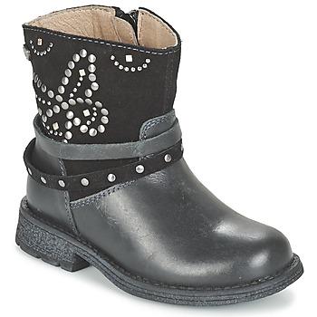 鞋子 女孩 短筒靴 Garvalin GENILA 黑色
