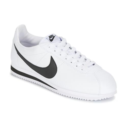 鞋子 男士 球鞋基本款 Nike 耐克 CLASSIC CORTEZ LEATHER 白色 / 黑色