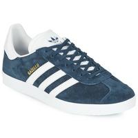 鞋子 球鞋基本款 阿迪达斯三叶草 GAZELLE 海蓝色