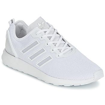 鞋子 男士 球鞋基本款 Adidas Originals 阿迪达斯三叶草 ZX FLUX ADV 白色