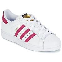 鞋子 女孩 球鞋基本款 Adidas Originals 阿迪达斯三叶草 SUPERSTAR FOUNDATIO 白色