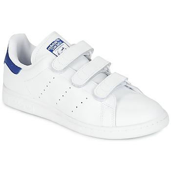 鞋子 球鞋基本款 Adidas Originals 阿迪达斯三叶草 STAN SMITH CF 白色 / 蓝色