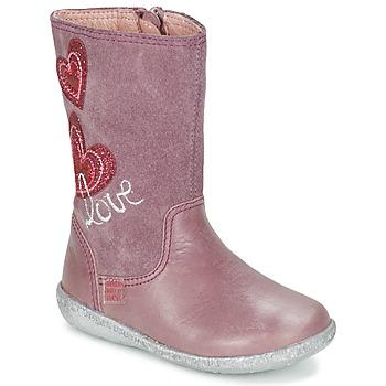 鞋子 女孩 都市靴 Agatha Ruiz de la Prada 阿嘉莎·鲁兹·德 BIGI 玫瑰色