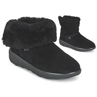 鞋子 女士 短筒靴 FitFlop MUKLUK SHORTY 2 BOOTS 黑色
