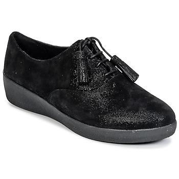 鞋子 女士 德比 FitFlop CLASSIC TASSEL SUPEROXFORD 黑色