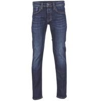 衣服 男士 直筒牛仔裤 Pepe jeans CASH Z45 / 蓝色 / Fonce