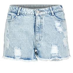 衣服 女士 短裤&百慕大短裤 Yurban EVANUXE 蓝色 / 米色