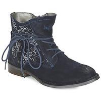 鞋子 女士 短筒靴 Bugatti LEEALE 海蓝色