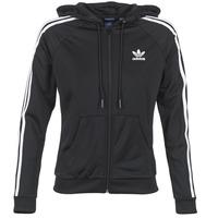衣服 女士 运动款外套 Adidas Originals 阿迪达斯三叶草 SLIM FZ HOODIE 黑色