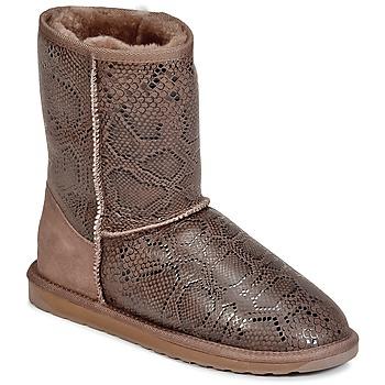鞋子 女士 短筒靴 EMU STINGER PRINT LO 棕色