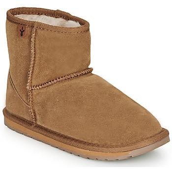 鞋子 女孩 短筒靴 EMU WALLABY MINI 棕色