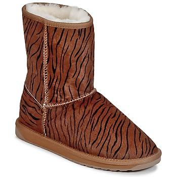 鞋子 女士 短筒靴 EMU STINGER FUR LO Tigré
