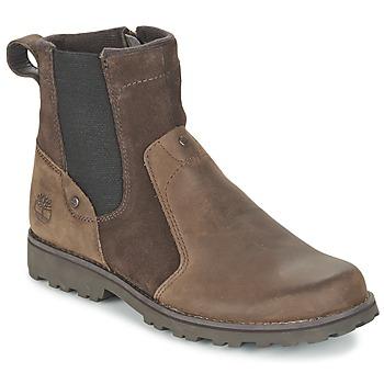 鞋子 儿童 短筒靴 Timberland 添柏岚 ASPHALT TRAIL CHELSEA 棕色